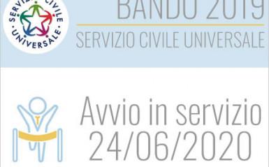 Servizio Civile Universale – il 24/06/2020 Immissione in servizio dei volontari idonei selezionati
