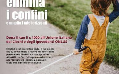 Dona il tuo 5 x 1000 all'Unione Italiana dei Ciechi e degli Ipovedenti ONLUS Consiglio regionale pugliese